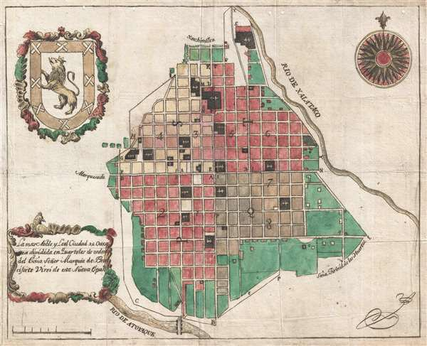 Oldest Known Map of Oaxaca City, from the archives of Erstwhile Mezcal